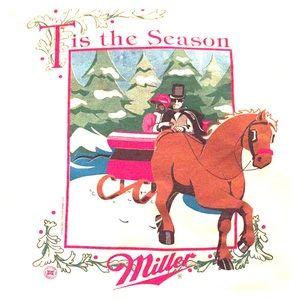 Men's XL Vintage Christmas Miller Beer T-shirt